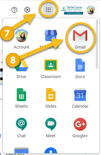 waffle icon and gmail